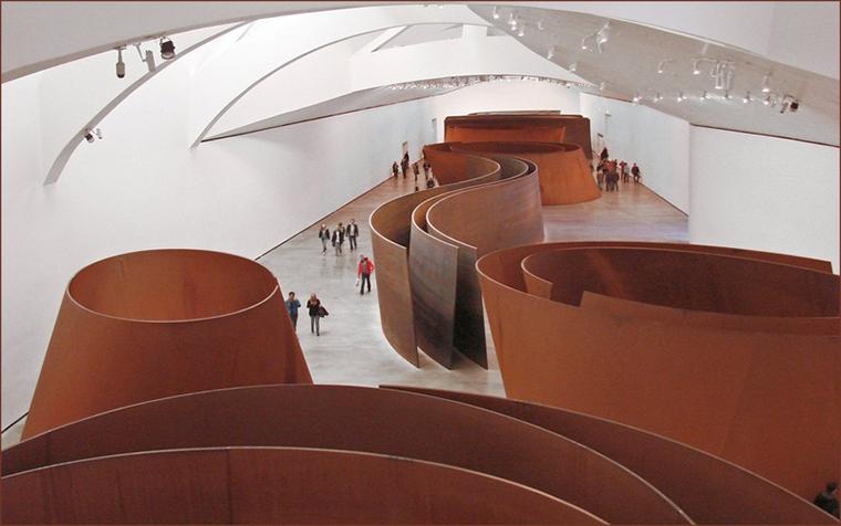"""""""The Matter of Time"""" ficou 11 anos no Museu Guggenheim Bilbao, na Espanha."""
