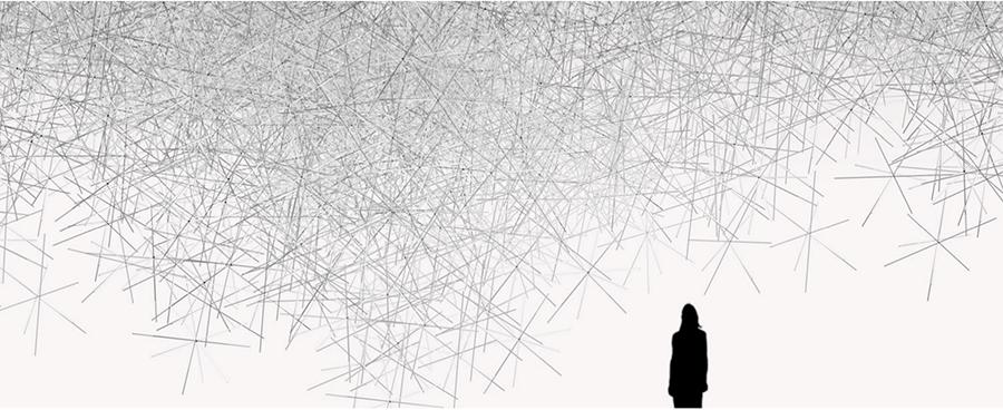 The Invisibles / Snowflake, 2010 - feito com prismas de plástico